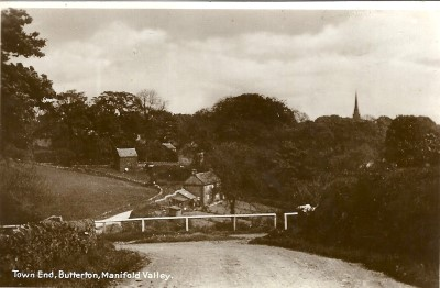 Town End, Butterton. Circa 1930